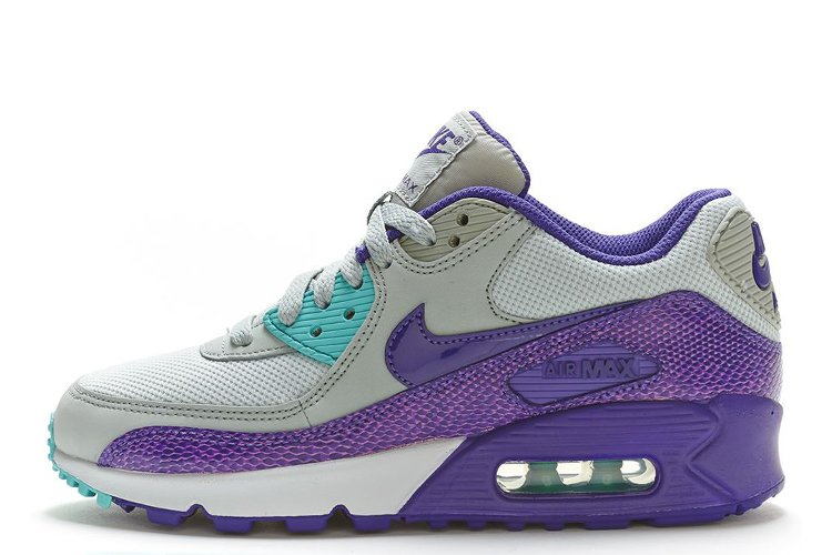 online store 7e7aa fb5dd Nike Air Max 90 Premium Black Purple Grey