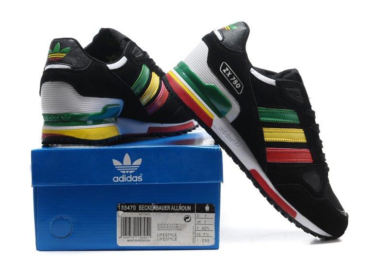837459d89 ... czech adidas zx750 black rainbow d2438 47f48